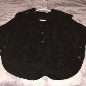 Old Navy Sweaters - Black Old Navy poncho/SALE